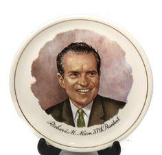 ♠※ #Vintage Richard Nixon Souvenir - Collectible Plate, Presidential Memorabilia, http://etsy.me/2bKtITO
