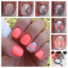 See added about Nail Art Designs, Art Designs and Nail Art. Related Postscute acrylic nail designs pictures 2016 design nail art for flower nails art designs 2016 nail art designs for nail Art ideas for summer starfish nail art summer 2017 Related Nails Yellow, Neon Nails, Love Nails, Pretty Nails, How To Do Nails, My Nails, Bright Coral Nails, Coral Gel Nails, Coral Nail Art
