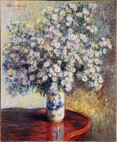'Asters' (1880) by Claude Monet