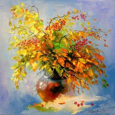 Buy Autumn still life, Oil painting by Olha Darchuk on Artfinder. Discover thousands of other original paintings, prints, sculptures and photography from independent artists. Abstract Canvas Art, Oil Painting Abstract, Artist Painting, Oil Painting Pictures, Art Pictures, Framed Pictures, Painting Videos, Bright Art, Art Plastique