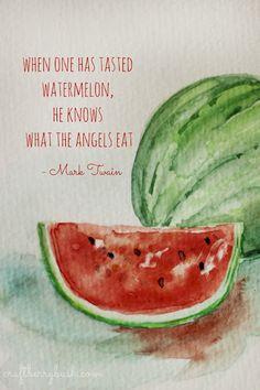 Watermelon watercolor.