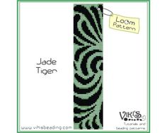 Loom Bead Pattern: Jade Tiger bracelet - INSTANT DOWNLOAD pdf - Multibuy savings with coupon codes - bl157 by VikisBeadingPatterns on Etsy