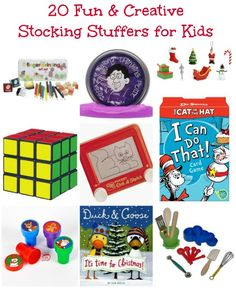 20 AWESOME Stocking Stuffers ideas that aren't junk!  The kids will actually learn something & get creative with these!