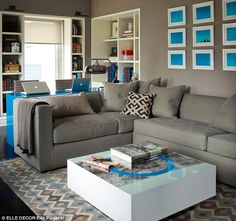 How to incorporate a desk/study into the main living area. From Ivanka Trump's apartment in Elle Decor