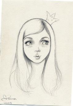 Custom Portrait - stylized pencil portrait