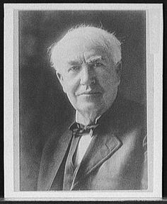 """I am quite correctly described as 'more of a sponge than an #inventor....'"" - Thomas #Edison   (photo from Library of Congress, Prints and Photographs Division, Detroit Publishing Company Collection)"