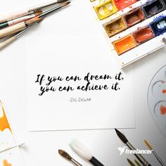 What's a creative idea for a project that you want to get done today? Make it happen! Hire Freelancers, Zig Ziglar, Find A Job, Online Jobs, Web Development, How To Get, Lifestyle, Creative, Inspiration