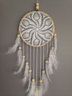 Dream catcher en dentelle au crochet coloris par MarcelMeduse