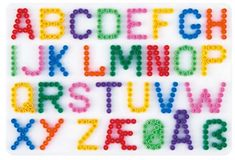 Perler Beads Letter Templates | Hama Beads Alphabet Pegboard Letters Numbers