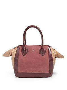 cd932d634d Pour La Victoire Maison Suede   Leather Medium Tote Medium Tote