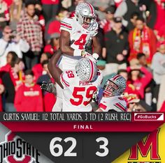 11-12-2016 GAME #10 THE VS. MARYLAND CURTIS SAMUEL STATS.