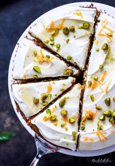 carrot cake with cream cheese and honey topping