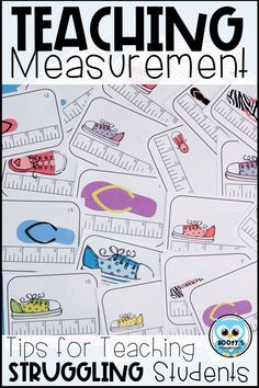Learning to read rulers can be difficult for some students. Learn some easy to use strategies to help your 3rd grade students master measurement. #measurement #thirdgrademath #taskcards #freebie