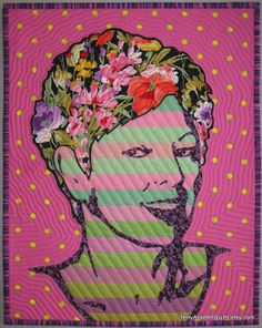 Art Quilt Portrait  Flowers in Her Hair by TerryAskeArtQuilts, $150.00