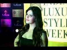 Zarine Khan in a black tight outfit at India Luxury Style Week.