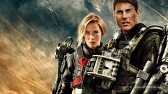 Edge of Tomorrow - Promotional art with Tom Cruise & Emily Blunt