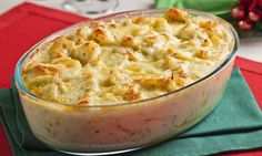 Bacalhau com queijo e batata