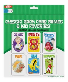 Another great find on #zulily! Classic Pack Card Game Set #zulilyfinds