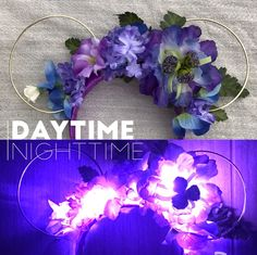 Purple & Blue Glowing Bioluminescent Blooms - Avatar Inspired Floral Ear Headband - perfect for a visit to Disney for the opening o by StarshineSupplyCo on Etsy https://www.etsy.com/listing/509170264/purple-blue-glowing-bioluminescent