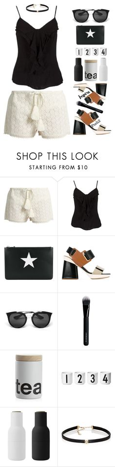"""Simple & Sweet!"" by prettynposh2 ❤ liked on Polyvore featuring Talitha, Givenchy, Marni, Prada, Crate and Barrel, Design Letters, Menu, Carbon & Hyde and black"