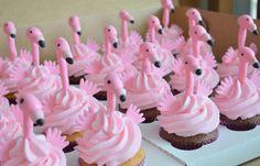 Flamingo Cupcake Toppers 1 Dozen 100% Edible by TheCakeHusband