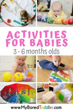 Activities for Babies 3 – 6 Months Old 12 baby play ideas for babies aged 3 – 6 months old. Activities for keeping a baby uner 6 months old entertained 5 Month Old Baby Activities, Baby Learning Activities, Infant Sensory Activities, Baby Sensory Play, Baby Play, Baby Sensory Ideas 3 Months, Kids Learning, Diy Toys For 5 Month Old, Diy Baby Toys 3 Months