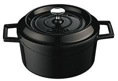 Lava Signature Enameled Cast-Iron Round Dutch Oven - 2 3/4 Quart, Obsidian Black