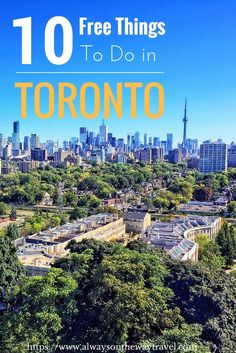 Toronto, the largest city in Canada is a popular but an expensive travel destination. Apart from CN Tower and aquarium, this post features fun and unique things to do in Toronto that do not cost you anything. Click on this pin to read more.