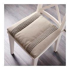 ULLAMAJ Stuhlkissen, beige, schwarz - 35/43x37x7 cm - IKEA