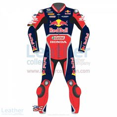 Specially designed motorbike race suit of Nicky Hayden, which he wears in the World Super-bike Championship 2017 season when he takes part with the official Red Bull Honda team.  Hurry up Don't Miss this Special Offer! Special price = $719.20U$ regular price = $899.00U$ (The offer is valid till 31st March)  BUY NOW https://www.leathercollection.com/en-we/nicky-hayden-red-bull-honda-wsbk-2017-race-suit.html