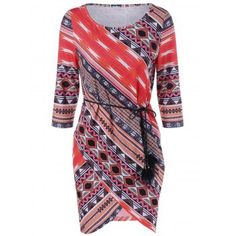 SHARE & Get it FREE | Belted Tribal Print Sheath DressFor Fashion Lovers only:80,000+ Items·FREE SHIPPING Join Dresslily: Get YOUR $50 NOW!