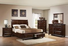 Crown Mark Portsmouth B6075 King Storage Bedroom furniture to revamp your bedroom at just $1399.99.