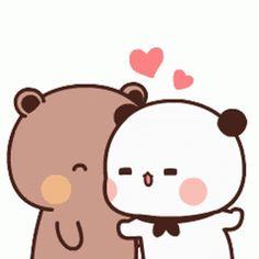 Cute Love Pictures, Cute Love Gif, Cute Cat Gif, Cute Images, Cute Cartoon Pictures, Cute Love Cartoons, Cute Bunny Cartoon, Chibi Cat, Cute Chibi