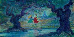Disney Fine Art Only In My Dreams by Harrison Ellenshaw Disney Dream, Disney Love, Disney Magic, Disney Stuff, Disney Pics, Prince Philippe, Godard Art, Sleeping Beauty Art, Disney Fine Art