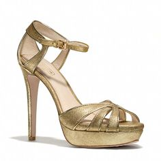 Daylan Heel | Coach Strappy gold heels sandals