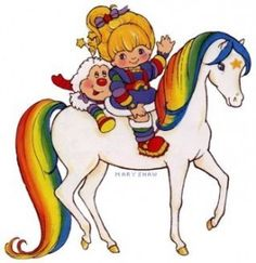 rainbow brite...between my sister and me, we had the horse, a couple sprites and Rainbow Brite.  I think Red Butler may have been in there too