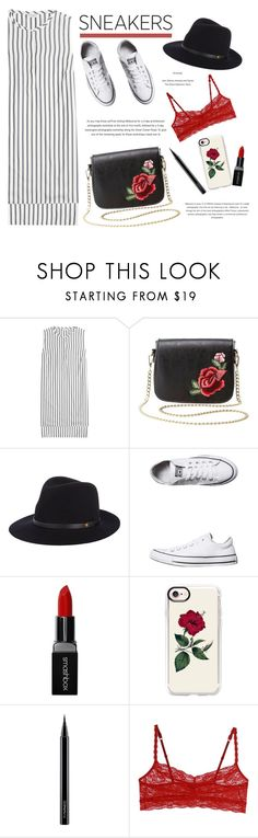 """""""So Fresh: White Sneakers"""" by blacksky000 ❤ liked on Polyvore featuring Brunello Cucinelli, Charlotte Russe, rag & bone, Converse, Smashbox, Casetify, MAC Cosmetics and Cosabella"""