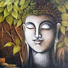 Canvas Buddha Painting - Paintings - Wall Decor - Home & Lifestyle Buda Painting, Zen Painting, Texture Painting On Canvas, Canvas Art, Canvas Paintings, Madhubani Painting, Kalamkari Painting, Krishna Painting, Buddha Zen