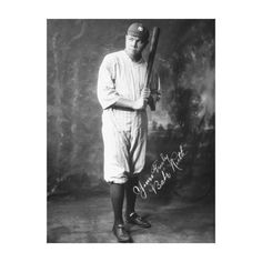 Babe Ruth in Yankee Uniform Full Portrait Gallery Wrap Canvas