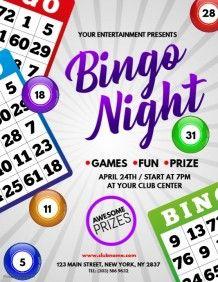 Bingo Fundraiser Free Bingo Flyer Template Word