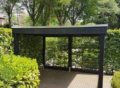 Bike Storage, Shed Storage, Casa Bunker, Bike Shelter, Backyard Storage Sheds, Garden Projects, Garden Inspiration, Terrace, Gazebo