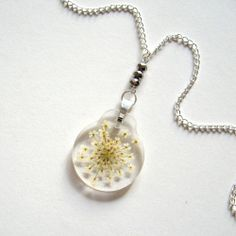 Win a Queen Anne's Lace Real Flower Necklace handmade by my sis on this blog - http://thoughtandsight.blogspot.com/2014/05/giveaway-enchanted-planet-queen-annes.html …