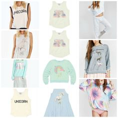 Wildfox Couture Mother Daughter Matching Outfits >> Mom + Me Unicorn Shirts