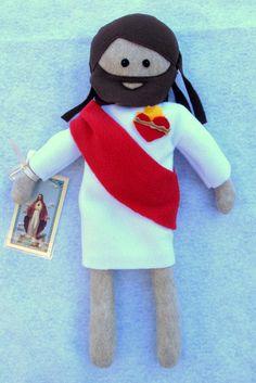 Catholic Sacred Heart of Jesus Doll by TheLittleRoseShop on Etsy