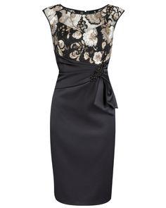 Anthea Crawford - $599.....Venetian Sequin Lace & Satin Dress