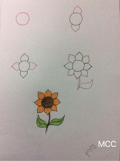 kolay ayçiçeği çizme