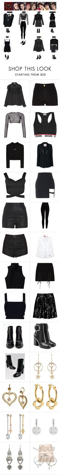 """GIRL NEXT DOOR - DEEP BLUE EYES❤️"" by vvvan99 ❤ liked on Polyvore featuring River Island, PA5H, Moschino, MSGM, Boohoo, Pepper & Mayne, Topshop, Vivienne Westwood Red Label, Talula and Zimmermann"