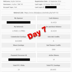 Click Ad Pays – Day 7   Mujibur Rahman