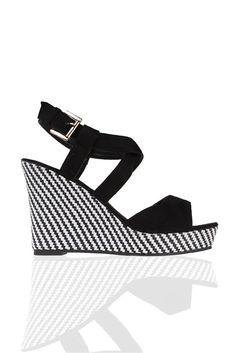 Sandales compensées fini graphique