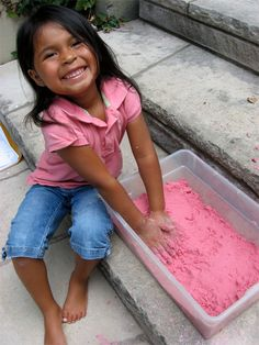 DIY moon sand. Cute for kids!